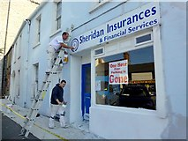 N9690 : Painters at work, Ardee by Kenneth  Allen
