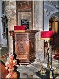 SK9239 : Pulpit, Belton Church by David Dixon