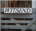 TM0981 : Witsend sign by Adrian Cable