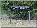 TM0981 : Snow Street sign by Adrian Cable
