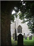 NY9393 : Churchyard of St Cuthbert's, Elsdon by Stanley Howe