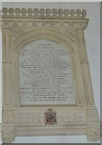 ST3505 : Forde Abbey Chapel: memorial (b) by Basher Eyre