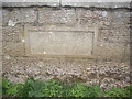 NY9191 : Stone plaque on South Monkridge Bridge by Stanley Howe