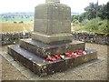 NY9371 : War Memorial plinth, Chollerton by Stanley Howe