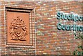 SJ8989 : Stockport Courthouse: Coat of Arms by Gerald England