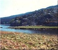 SH7157 : Rocky outcrop at Llynnau Mymbyr by David Leeming