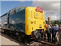 SK9135 : Deltic Locomotive at Grantham Festival of Speed by David Dixon