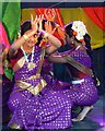 SU1583 : Tamil dancers at the Swindon Mela 2013, Town Gardens, Swindon by Brian Robert Marshall