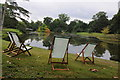 SO8844 : Deckchairs in Croome Park by Philip Halling