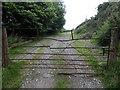 SO2274 : Rusty old gate near Upper Hall railway bridge by Jaggery