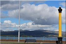 NS2677 : Cast-Iron Navigation Light, Greenock Esplanade by Leslie Barrie