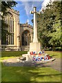SK8053 : War Memorial outside St Mary's Church by David Dixon
