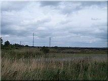 N2021 : Telecommunications mast at the Boora Bog by Eric Jones