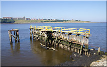 NZ3668 : The old Harbour Pilots jetty, South Shields by David P Howard