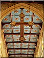 SK7953 : The Parish Church of St Mary Magdalene - Chancel Ceiling and Hanging Cross by David Dixon