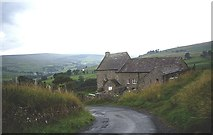 NY9038 : Farmstead at the top of Scutterhill Bank by Stanley Howe