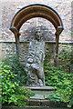 NZ2742 : Statue of St Cuthbert by David P Howard