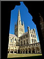 TG2308 : Norwich Cathedral - framed by Jonathan Billinger