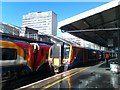 TQ3079 : Sunshine after heavy shower, Waterloo Station by David Martin