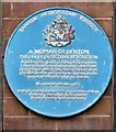 SJ9295 : Blue plaque: A woman of Denton by Gerald England