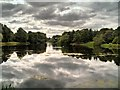 SE4017 : Nostell Park, Middle Lake by David Dixon