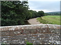 NY7710 : Parapet of Eastfield Bridge and the River Eden by Bikeboy