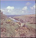 SW8471 : Porth Mear Cornwall,1948 by John Arkas Hawgood