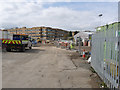 SK5538 : Works compound of Abbey Street by Alan Murray-Rust