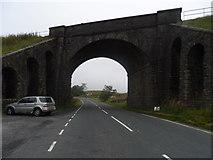 SD7992 : Carlisle-Settle Railway crosses A684, near Garsdale Head by Bikeboy