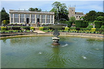 SK9239 : Fountain in the gardens of Belton House by Philip Halling
