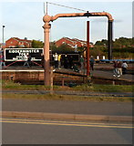 SO8376 : Water crane at Kidderminster Town railway station by Jaggery