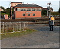 SO8375 : Kidderminster Town Station signalbox by Jaggery