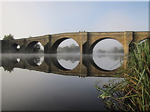 NY9170 : Chollerford Bridge on the river North Tyne by Andrew Tryon