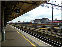 TQ2775 : Looking across the Junction from Platform 6 by Shazz