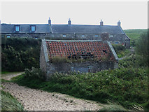 NU1535 : Derelict shed at Heather Cottages by Graham Robson