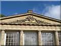 SO8844 : Croome Park, carving on temple greenhouse pediment by David Hawgood
