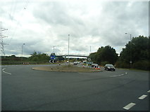 TQ0485 : Roundabout on the A40, Denham by Stacey Harris