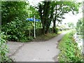 ST2999 : Cycleway signpost on the Mon & Brec canal towpath by Christine Johnstone
