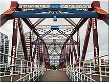 SJ8097 : Detroit bridge, Salford Quays by William Starkey
