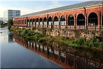 SK3688 : Albion Works reflection by Graham Hogg