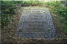 SK3788 : Memorial stone at Salmon Pastures by Graham Hogg