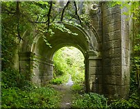 NS4276 : Path beneath Overtoun Bridge by Lairich Rig