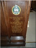 ST6316 : Sherborne Abbey: memorial (xi) by Basher Eyre