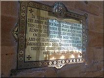 ST6316 : Sherborne Abbey: memorial (xlvi) by Basher Eyre