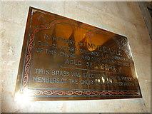 ST6316 : Sherborne Abbey: memorial (xxxvii) by Basher Eyre
