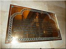 ST6316 : Sherborne Abbey: memorial (xliv) by Basher Eyre
