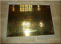 ST6316 : Sherborne Abbey: memorial (l) by Basher Eyre