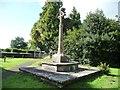 ST3794 : Cross, St Andrew's churchyard, Tredunnock by Christine Johnstone