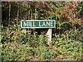 TG1617 : Mill Lane sign by Adrian Cable
