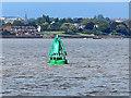 SJ3585 : Navigation buoy, River Mersey by William Starkey